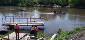 Фрагмент понтонного моста. Фото пресс-службы администрации города Пензы