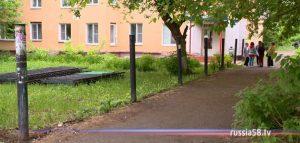 Двор на улице Циолковского в Пензе