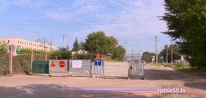 Ремонт теплосетей на улице Каракозова в Пензе