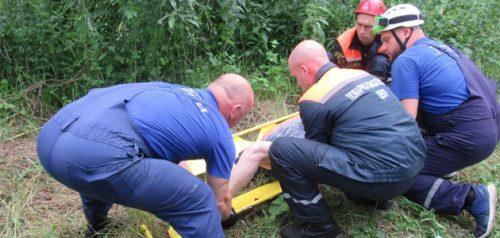 Спасательная операция. Фото Пензенского пожарно-спасательного центра
