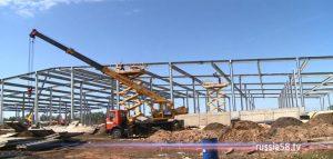 Строительство грибного комплекса в Сердобском районе