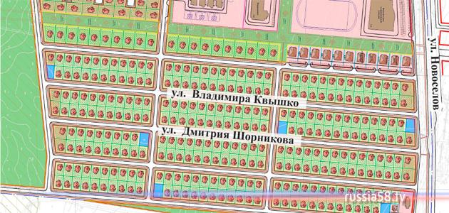 Схема улиц в Заре