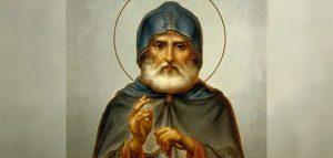 Икона святого преподобного Александра Свирского с частицей мощей