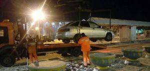 Эвакуация автомобиля. Фото пресс-службы администрации Пензы