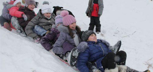 Гонки на ледянках. Фото издания «Вадинские вести»