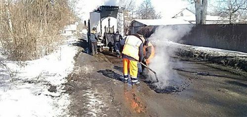 Ямочный ремонт. Фото пресс-службы администрации Пензы