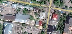 Перекресток улиц Лермонтова и Красной в Пензе