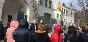 Учебная эвакуация. Фото Пензенской картинной галереи