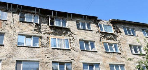 Разрушающийся дом на Кулибина. Фото пресс-службы администрации города Пензы