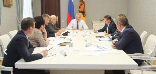 Совещание у губернатора. Фото пресс-службы правительства Пензенской области