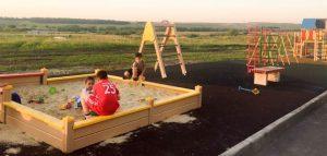 Детская площадка в микрорайоне «Чистые пруды». Фото пресс-службы правительства Пензенской области