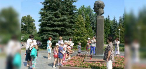 Памятник Лермонтову в Заречном