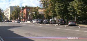 Парковка на улице Лермонтова в Пензе