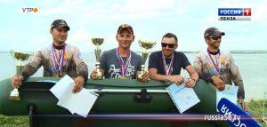 Победители чемпионата Пензенской области по ловле рыбы спиннингом с лодок, команда «Огонь»