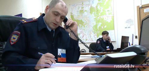 Сотрудники полиции в Пензе